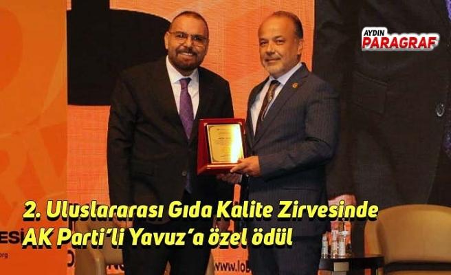 2. Uluslararası Gıda Kalite Zirvesinde AK Parti'li Yavuz'a özel ödül