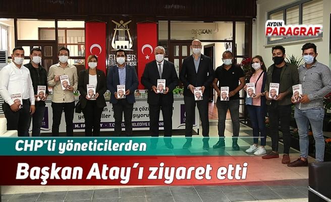 CHP'li yöneticilerden Başkan Atay'ı ziyaret etti