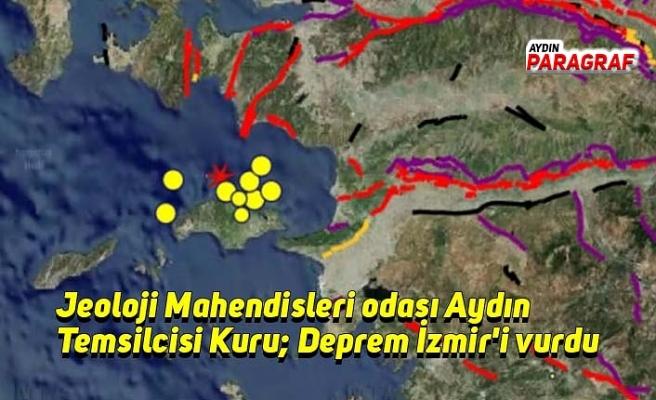 Jeoloji Mahendisleri odası Aydın Temsilcisi Kuru; Deprem İzmir'i vurdu