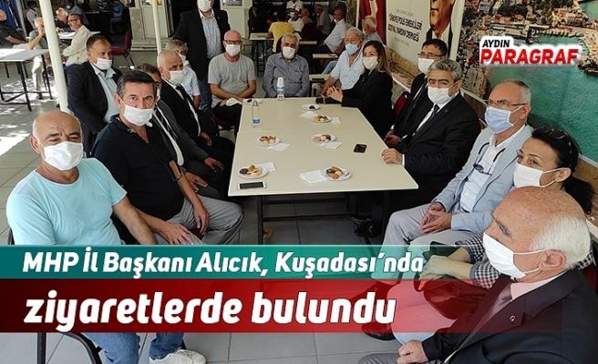 MHP İl Başkanı Alıcık, Kuşadası'nda ziyaretlerde bulundu