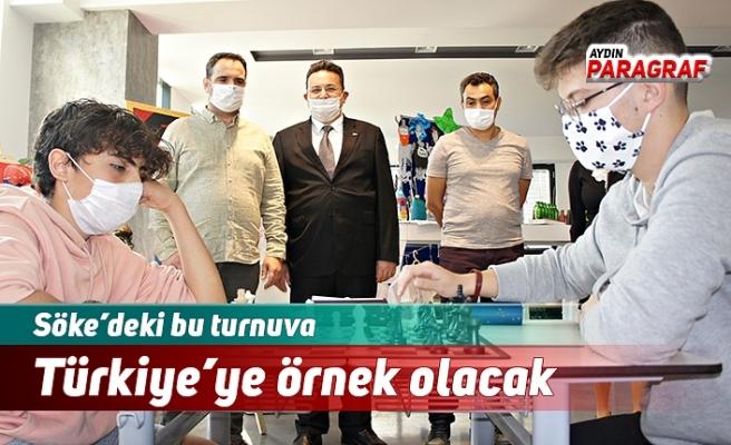 Söke'deki bu turnuva Türkiye'ye örnek olacak