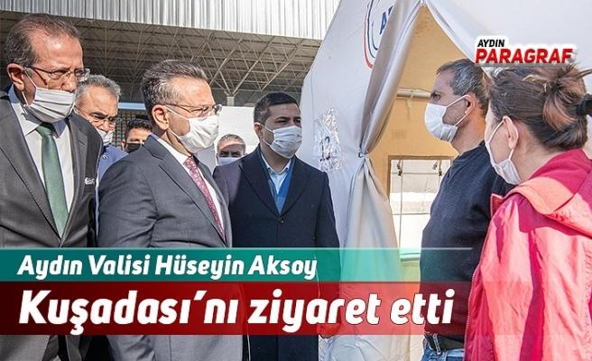 Aydın Valisi Hüseyin Aksoy Kuşadası'nı ziyaret etti