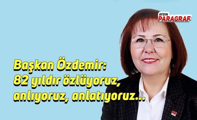 Başkan Özdemir: 82 yıldır özlüyoruz, anlıyoruz, anlatıyoruz...