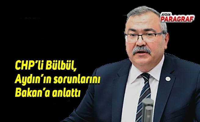 CHP'li Bülbül, Aydın'ın sorunlarını Bakan'a anlattı