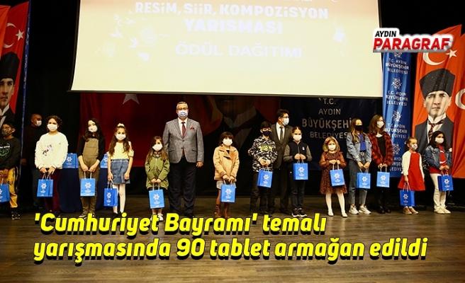 'Cumhuriyet Bayramı' temalı yarışmasında 90 tablet armağan edildi