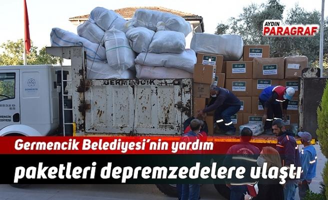 Germencik Belediyesi'nin yardım paketleri depremzedelere ulaştı