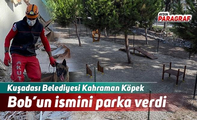 Kuşadası Belediyesi Kahraman Köpek Bob'un ismini parka verdi