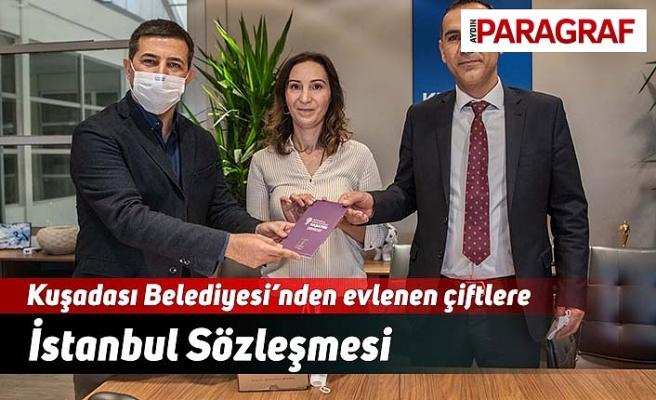 Kuşadası Belediyesi'nden evlenen çiftlere İstanbul Sözleşmesi
