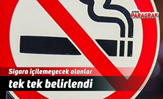Sigara içilemeyecek alanlar tek tek belirlendi