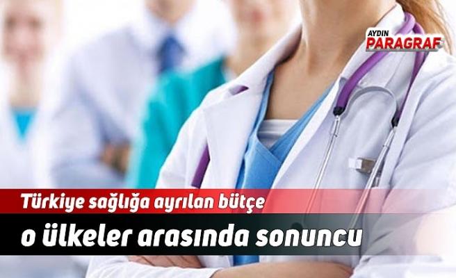 Türkiye sağlığa ayrılan bütçe o ülkeler arasında sonuncu