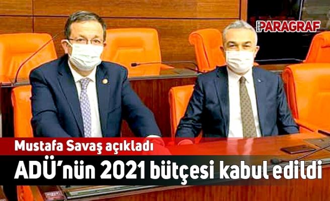 ADÜ'nün 2021 bütçesi kabul edildi