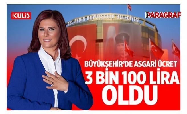 Aydın Büyükşehir'de asgari ücret 3 bin 100 Lira