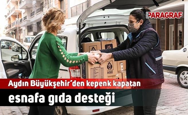 Aydın Büyükşehir'den kepenk kapatan esnafa gıda desteği