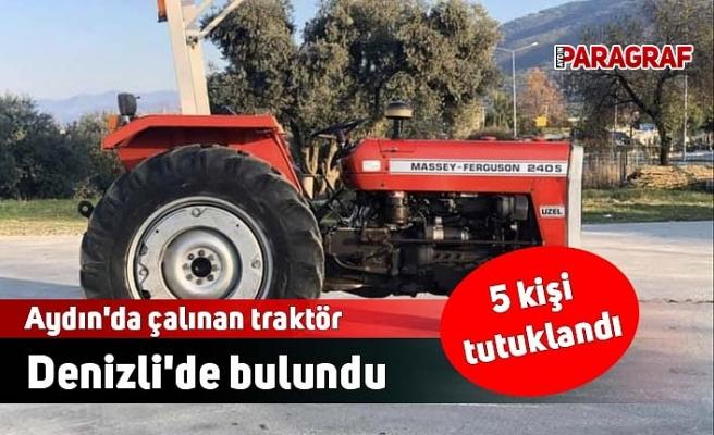 Aydın'da çalınan traktör Denizli'de bulundu