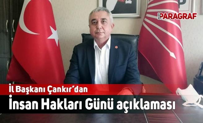 Başkan Çankır'dan İnsan Hakları Günü açıklaması