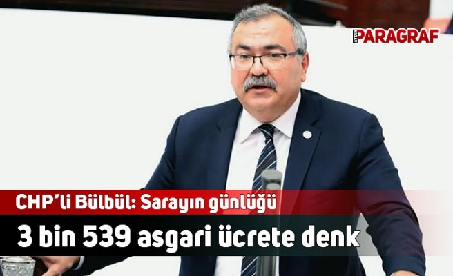 CHP'li Bülbül: Sarayın günlüğü 3 bin 539 asgari ücrete denk