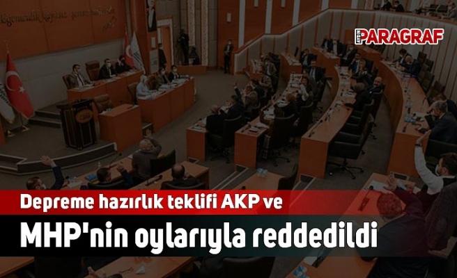 Depreme hazırlık teklifi AKP ve MHP'nin oylarıyla reddedildi