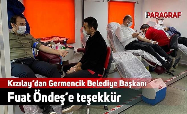 Kızılay'dan Germencik Belediye Başkanı Fuat Öndeş'e teşekkür