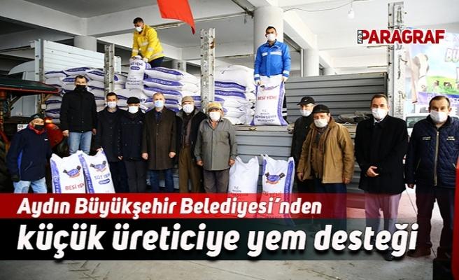 Aydın Büyükşehir Belediyesi'nden küçük üreticiye yem desteği