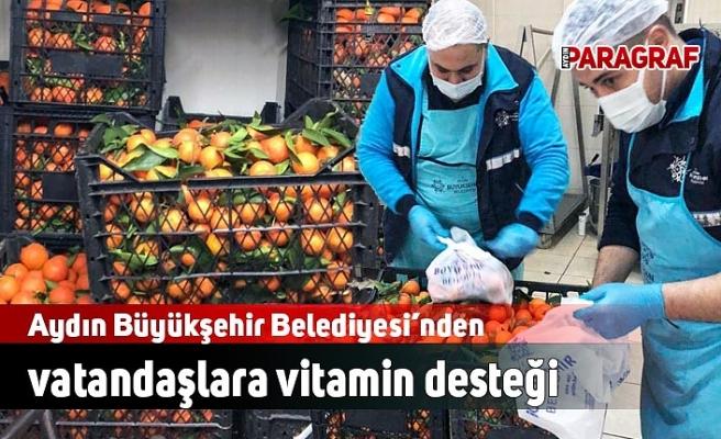 Aydın Büyükşehir Belediyesi'nden vatandaşlara vitamin desteği