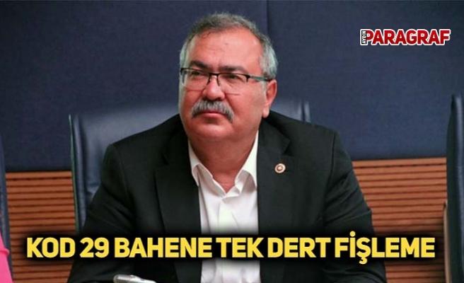 KOD 29 BAHENE TEK DERT FİŞLEME