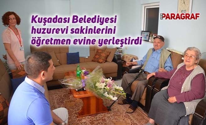 Kuşadası Belediyesi huzurevi sakinlerini öğretmen evine yerleştirdi