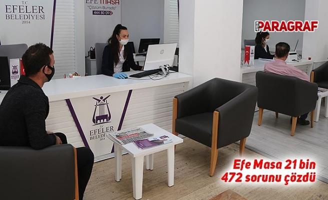Efe Masa 21 bin 472 sorunu çözdü