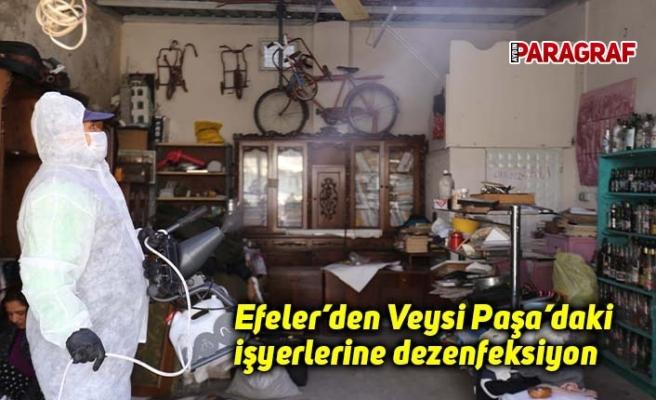 Efeler'den Veysi Paşa'daki işyerlerine dezenfeksiyon