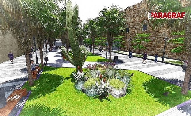 Kuşadası Barbaros Bulvarı'na Belediye'den yeşil dokunuş