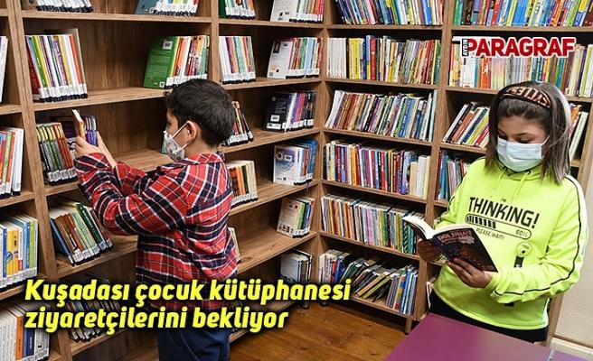 Kuşadası çocuk kütüphanesi ziyaretçilerini bekliyor