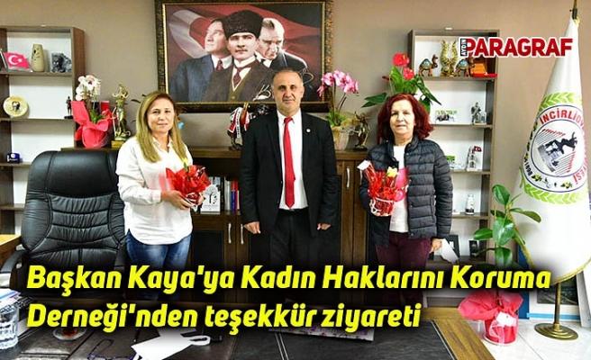 Başkan Kaya'ya Kadın Haklarını Koruma Derneği'nden teşekkür ziyareti