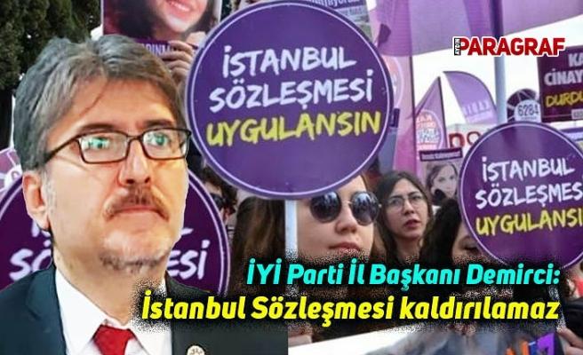 İYİ Parti İl Başkanı Demirci: İstanbul Sözleşmesi kaldırılamaz