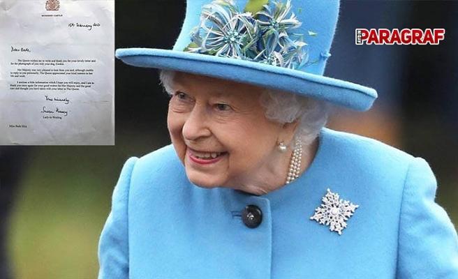 Kraliçe Elizabeth'ten Aydınlı öğrencinin mektubuna yanıt