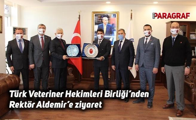 Türk Veteriner Hekimleri Birliği'nden Rektör Aldemir'e ziyaret