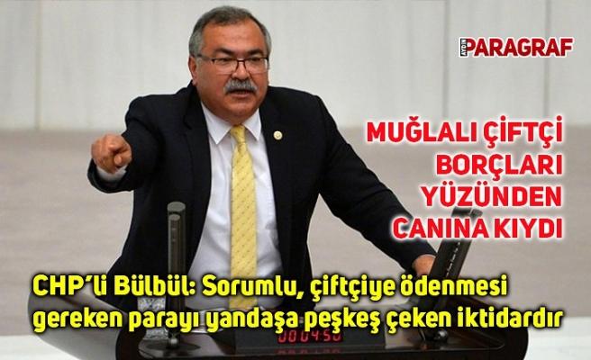 CHP'li Bülbül: Sorumlu, çiftçiye ödenmesi gereken parayı yandaşa peşkeş çeken iktidardır