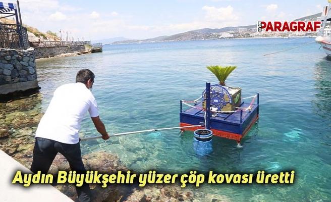 Aydın Büyükşehir yüzer çöp kovası üretti