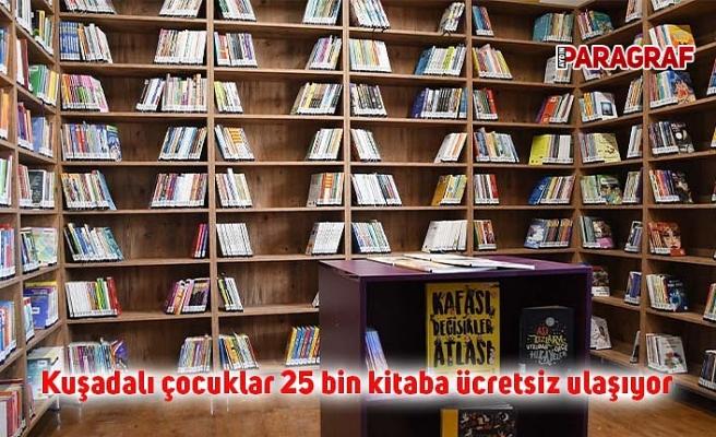 Kuşadalı çocuklar 25 bin kitaba ücretsiz ulaşıyor