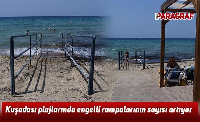 Kuşadası plajlarında engelli rampalarının sayısı artıyor