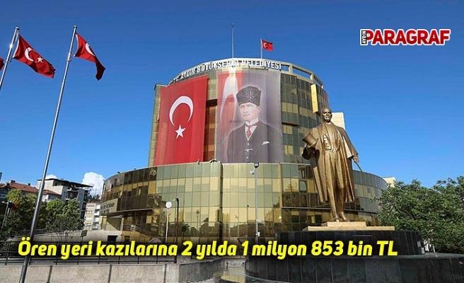 Ören yeri kazılarına 2 yılda 1 milyon 853 bin TL