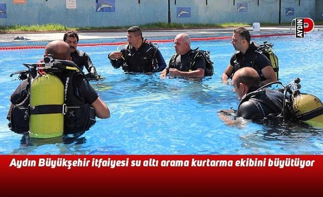 Aydın Büyükşehir itfaiyesi su altı arama kurtarma ekibini büyütüyor