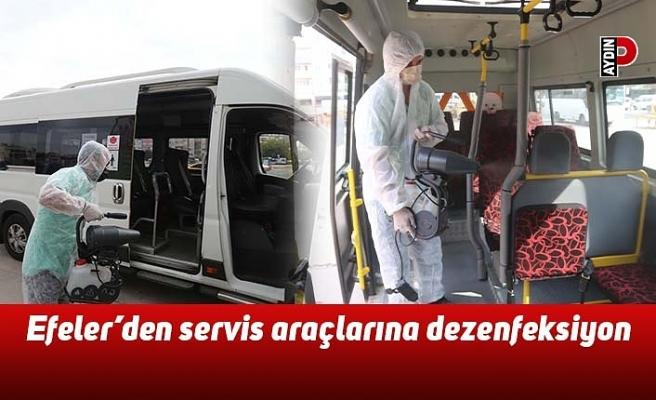 Efeler'den servis araçlarına dezenfeksiyon