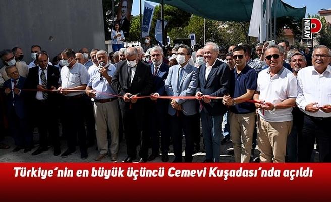 Türkiye'nin en büyük üçüncü Cemevi Kuşadası'nda açıldı