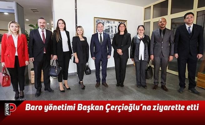 Baro yönetimi Başkan Çerçioğlu'na ziyarette etti