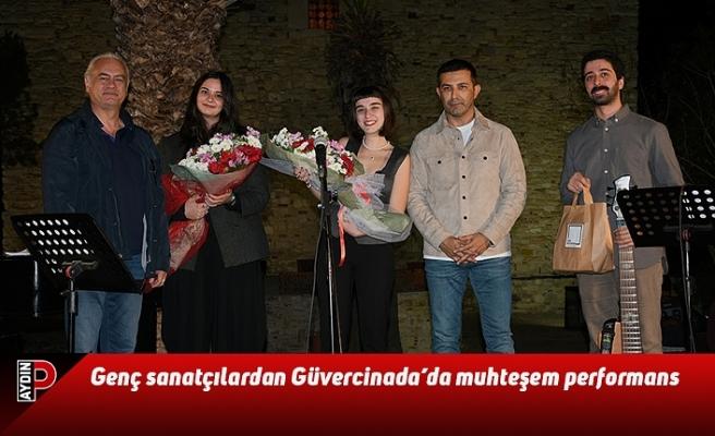 Genç sanatçılardan Güvercinada'da muhteşem performans
