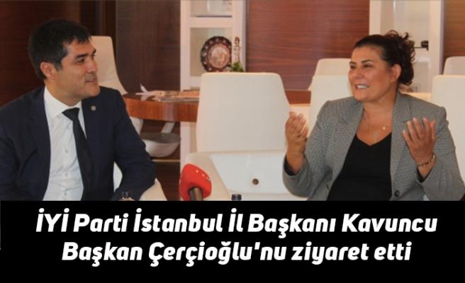 İYİ Parti İstanbul İl Başkanı Kavuncu Başkan Çerçioğlu'nu ziyaret etti