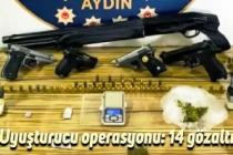 Uyuşturucu operasyonu: 14 gözaltı
