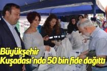 Büyükşehir Kuşadası'nda 50 bin fide dağıttı