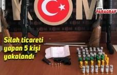 Silah ticareti yapan 5 kişi yakalandı