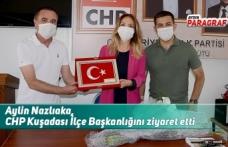 Aylin Nazlıaka, CHP Kuşadası İlçe Başkanlığını ziyaret etti