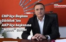 """CHP ilçe Başkanı Gürbilek'ten AKP ilçe başkanına """"hizmet"""" cevabı"""